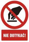 Nie dotykać - znak bhp zakazujący - GC022
