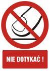 Nie dotykać - znak bhp zakazujący - GC034