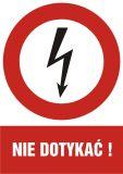 Nie dotykać! - znak sieci elektrycznych - HC007 - Norma PN-E-08501:1998