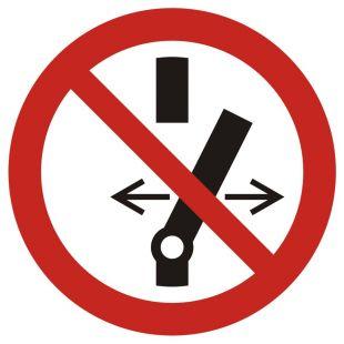Nie przełączaj - znak bhp zakazujący - GAP031