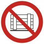 Nie zastawiać - znak bhp zakazujący - GAP023