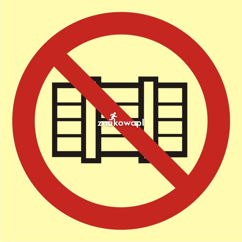 Nie zastawiać - Plac budowy – znaki i tablice