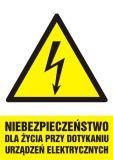 Niebezpieczeństwo dla życia przy dotykaniu urządzeń elektrycznych - znak sieci elektrycznych - HA006 - Kto odpowiada za stan BHP w zakładzie pracy? Obowiązki pracodawcy i pracownika w zakresie BHP