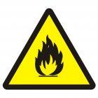 Niebezpieczeństwo pożaru - materiały łatwopalne - znak przeciwpożarowy ppoż - BA014