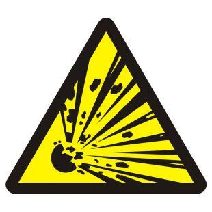 Niebezpieczeństwo wybuchu - materiały wybuchowe - znak przeciwpożarowy ppoż - BA016