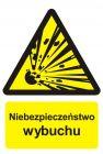 Niebezpieczeństwo wybuchu - materiały wybuchowe - znak przeciwpożarowy ppoż - BC004