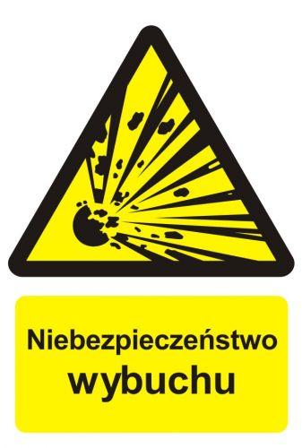 Niebezpieczeństwo wybuchu - materiały wybuchowe - znak przeciwpożarowy ppoż - BC004 - Znaki uzupełniające ochrony przeciwpożarowej