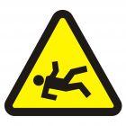 Niebezpieczeństwo wypadnięcia - znak, naklejka kolejowa - SD022