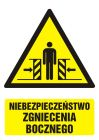 Niebezpieczeństwo zgniecenia bocznego - znak bhp ostrzegający, informujący - GF034