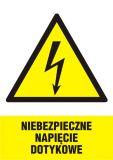 Niebezpieczne napięcie dotykowe - znak sieci elektrycznych - HA015 - Plac budowy – znaki i tablice