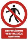 Nieupoważnionym wstęp i przejście wzbronione - znak bhp zakazujący, informujący - GC007