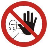 Nieupoważnionym wstęp wzbroniony - znak bhp zakazujący, informujący - GB039 - Wymagania dla załogi pojazdu ADR