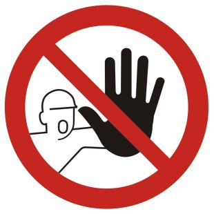 Nieupoważnionym wstęp wzbroniony - znak bhp zakazujący, informujący - GB039