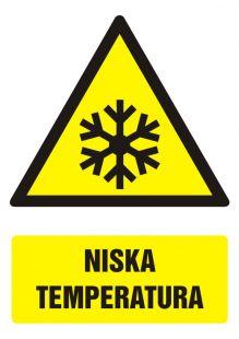 Niska temperatura - znak bhp ostrzegający, informujący - GF026
