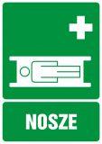 Nosze - znak bhp informujący - GI004 - Znaki BHP w miejscu pracy (norma PN-93/N-01256/03)