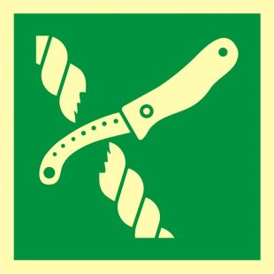 Nóż do liny tratwy ratunkowej - znak morski - FB073