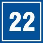 Numer 22 - znak informacyjny - PB522