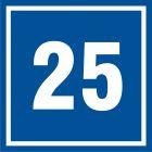 Numer 25 - znak informacyjny - PB525