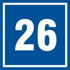 Numer 26 - znak informacyjny - PB526