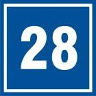 Numer 28 - znak informacyjny - PB528