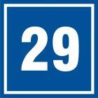 Numer 29 - znak informacyjny - PB529