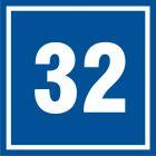 Numer 32 - znak informacyjny - PB532