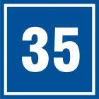 Numer 35 - znak informacyjny - PB535