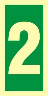 Numer stacji ewakuacyjnych 2 - znak morski - FE003