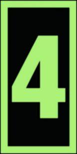 Numer stacji ewakuacyjnych 4 - znak morski - FE005