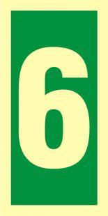 Numer stacji ewakuacyjnych 6 - znak morski - FE007