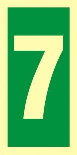 Numer stacji ewakuacyjnych 7 - znak morski - FE008