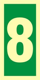 Numer stacji ewakuacyjnych 8 - znak morski - FE009