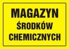 OA065 - Magazyn środków chemicznych - znak, tablica budowlana