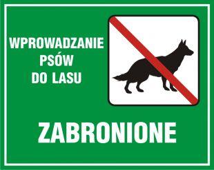 OB013 - Wprowadzanie psów do lasu zabronione - znak, lasy