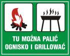 OB040 - Tu można palić ognisko i grillować - znak, lasy