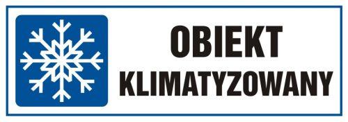 Obiekt klimatyzowany - znak, tabliczka - TA003 - Klimatyzacja i wentylacja w pracy