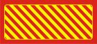 Odbojnica płaska nieświecąca czerwono-żółta