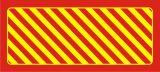 Odbojnica płaska nieświecąca czerwono-żółta - Oświetlenie awaryjne – rozmieszczenie