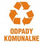 Odpady komunalne 1 - znak informacyjny, segregacja śmieci - PA056