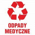 Odpady medyczne - znak informacyjny, segregacja śmieci - PA068