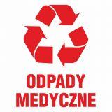 Odpady medyczne - znak informacyjny, segregacja śmieci - PA068 - Segregacja odpadów medycznych