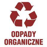 Odpady organiczne 1 - znak informacyjny, segregacja śmieci - PA057 - Jakie kosze na śmieci do firmy?
