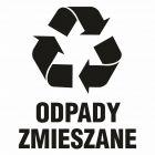 Odpady zmieszane - znak informacyjny, segregacja śmieci - PA067