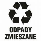 Odpady zmieszane - znak informacyjny, segregacja śmieci - PA067 - Segregacja śmieci: kolory, zasady sortowania i oznaczenia na koszach