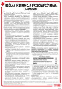 Ogólna instrukcja przeciwpożarowa dla magazynu - instrukcja ppoż - DB026