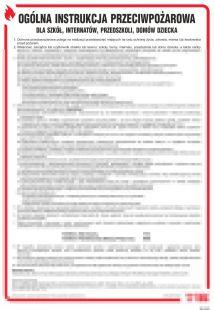 Ogólna instrukcja przeciwpożarowa dla szkół, internatów, przedszkoli, domów dziecka itp. - instrukcja ppoż - DB023