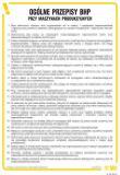 Ogólne przepisy BHP przy maszynach produkcyjnych - IAA05 - Bezpieczeństwo w szkole