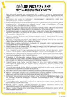 Ogólne przepisy BHP przy maszynach produkcyjnych - IAA05