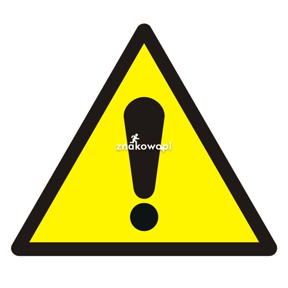 Ogólny znak ostrzegawczy - Plac budowy – znaki i tablice