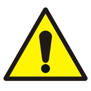 Ogólny znak ostrzegawczy - znak bhp ostrzegający - GDW001